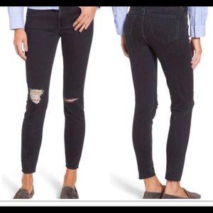 """Madewell like new 9"""" high-rise skinny black jeans"""